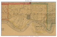 Bon Homme, South Dakota 1893 Old Town Map Custom Print - Bon Homme Co.