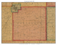 Cleveland and Tyndall, South Dakota 1893 Old Town Map Custom Print - Bon Homme Co.