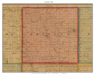 Emanuel, South Dakota 1893 Old Town Map Custom Print - Bon Homme Co.