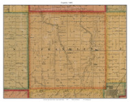 Franklin, South Dakota 1893 Old Town Map Custom Print - Bon Homme Co.