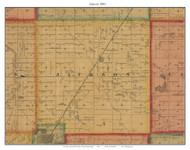 Jackson, South Dakota 1893 Old Town Map Custom Print - Bon Homme Co.