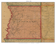 Jefferson, South Dakota 1893 Old Town Map Custom Print - Bon Homme Co.