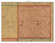 Lincoln, South Dakota 1893 Old Town Map Custom Print - Bon Homme Co.