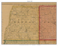 Monroe, South Dakota 1893 Old Town Map Custom Print - Bon Homme Co.