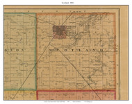 Scotland, South Dakota 1893 Old Town Map Custom Print - Bon Homme Co.