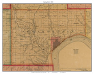 Springfield, South Dakota 1893 Old Town Map Custom Print - Bon Homme Co.