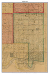 Tabor, South Dakota 1893 Old Town Map Custom Print - Bon Homme Co.