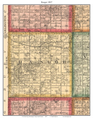 Bangor, South Dakota 1897 Old Town Map Custom Print - Brookings Co.