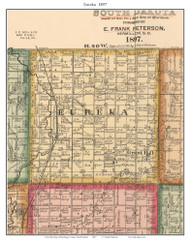 Eureka, South Dakota 1897 Old Town Map Custom Print - Brookings Co.