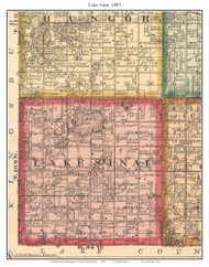 Lake Sinai, South Dakota 1897 Old Town Map Custom Print - Brookings Co.