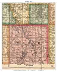 Medary, South Dakota 1897 Old Town Map Custom Print - Brookings Co.