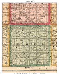 Parnell, South Dakota 1897 Old Town Map Custom Print - Brookings Co.