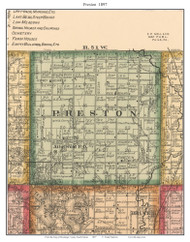 Preston, South Dakota 1897 Old Town Map Custom Print - Brookings Co.