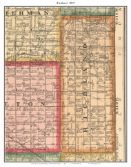 Richland, South Dakota 1897 Old Town Map Custom Print - Brookings Co.