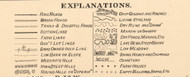 Map Explanations,  Brookings Co., South Dakota 1897 Old Town Map Custom Print -