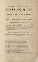 Title Page, 1734 New England Coasting Pilot - USA Regional Pg 1