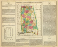 Alabama 1822 Carey (Map with Text) - Old State Map Reprint