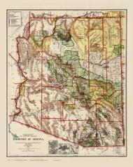 Arizona 1910 GLO - Old State Map Reprint