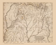 Mississippi Territory 1804 Lewis - Old State Map Reprint