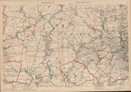 Maynard, Weston, Newton, Lexington, & Cambrigde Area, Massachusetts 1891 Old Town Map Reprint - Walker State Atlas Plate 04