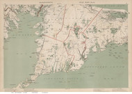 Falmouth, Mashpee, & Buzzards Bay Area, Massachusetts 1891 Old Town Map Reprint - Walker State Atlas Plate 12