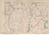Attleboro, Rehoboth, Taunton, & Berkley Area, Massachusetts 1891 Old Town Map Reprint - Walker State Atlas Plate 14