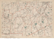 Bellingham, Norfolk, Nortwood, & Foxborough Area, Massachusetts 1891 Old Town Map Reprint - Walker State Atlas Plate 15