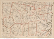 Middlefield, Cummington, Williamsburg, & Northampton Area, Massachusetts 1891 Old Town Map Reprint - Walker State Atlas Plate 23