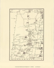 Dublin, New Hampshire 1877 Old Town Map Reprint - Cheshire Co.
