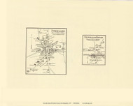 Fitzwilliam and Fitzwilliam Depot, New Hampshire 1877 Old Town Map Reprint - Cheshire Co.