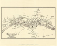 Hinsdale Village, New Hampshire 1877 Old Town Map Reprint - Cheshire Co.