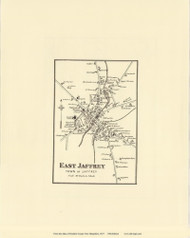 East Jaffrey Village - Jaffrey, New Hampshire 1877 Old Town Map Reprint - Cheshire Co.