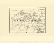 Marlboro, New Hampshire 1877 Old Town Map Reprint - Cheshire Co.