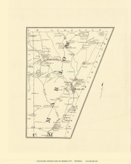 Marlow, New Hampshire 1877 Old Town Map Reprint - Cheshire Co.