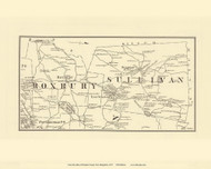 Roxbury and Sullivan, New Hampshire 1877 Old Town Map Reprint - Cheshire Co.