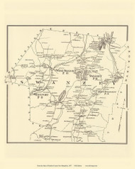 Swanzey, New Hampshire 1877 Old Town Map Reprint - Cheshire Co.