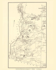 Walpole, New Hampshire 1877 Old Town Map Reprint - Cheshire Co.