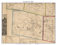 New Ipswich, New Hampshire 1858 Old Town Map Custom Print - Hillsboro Co.