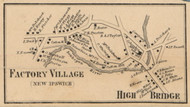 Factory Village & High Bridge - New Ipswich, New Hampshire 1858 Old Town Map Custom Print - Hillsboro Co.