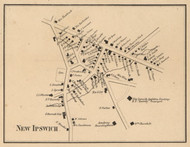 New Ipswich Village, New Hampshire 1858 Old Town Map Custom Print - Hillsboro Co.