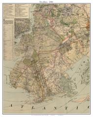 Brooklyn, New York 1886 Old Town Map Custom Print - Kings Co.