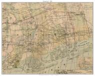 Hempstead, New York 1886 Old Town Map Custom Print - Kings Co.
