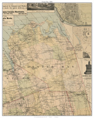 Oyster Bay, New York 1886 Old Town Map Custom Print - Kings Co.