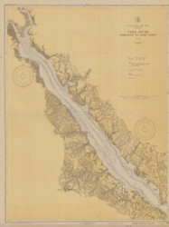 York River - Yorktown to West Point 1931 - Old Map Nautical Chart AC Harbors 495 - Virginia