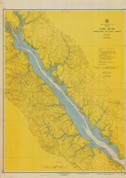 York River - Yorktown to West Point 1945 - Old Map Nautical Chart AC Harbors 495 - Virginia