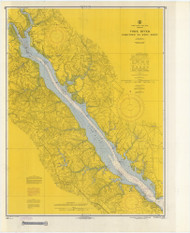 York River - Yorktown to West Point 1969 - Old Map Nautical Chart AC Harbors 495 - Virginia