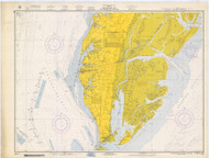 Chesapeake Bay - Cape Charles to Wolf Trap 1967 - Old Map Nautical Chart AC Harbors 563 - Virginia