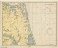 Approaches to Chesapeake Bay 1946 - Old Map Nautical Chart AC Harbors 3335 - Virginia