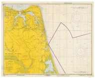 Approaches to Chesapeake Bay 1967 - Old Map Nautical Chart AC Harbors 3335 - Virginia