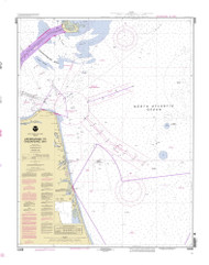 Approaches to Chesapeake Bay 1996 - Old Map Nautical Chart AC Harbors 3335 - Virginia